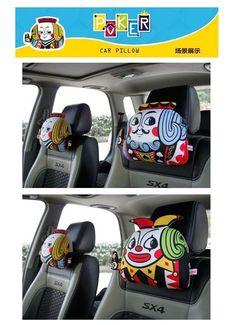 2Pcs Lovely Cartoon Snoopy Gray Car Headrest Neck Pillow Cushion Headrest 002