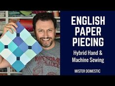 English Paper Piecing: Hybrid Hand & Machine Sewing in a Bow Ties Block with Mister Domestic Sewing Hacks, Sewing Tips, Sewing Ideas, Paper Quilt, Tie Quilt, English Paper Piecing, Bow Ties, Pattern Paper, Paper Goods