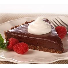 Chocolate Mudslide Frozen Pie is the pefect make-ahead dessert! Chocolate crumb crust is topped with a mixture of sour cream, melted semi-sweet chocolate morse Chocolate Morsels, Chocolate Truffles, Chocolate Desserts, Melted Chocolate, Decadent Chocolate, Tart Recipes, Sweet Recipes, Peanut Butter Truffles, Cheesecake
