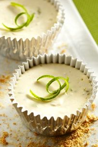"If you love Key lime pie, you're certain to love these rich and creamy guilt-free  140 calorie cheesecake ""cupcakes""…"