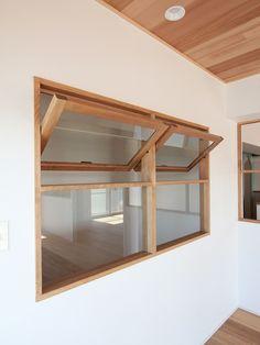Wooden Window Design, House Window Design, House Design, Home Office Design, Interior Design Living Room, Internal Double Doors, Partition Design, Interior Windows, Beautiful Houses Interior