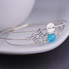 Personalized Jewelry Snowflake Bracelet Set Christmas Gift by georgiedesigns