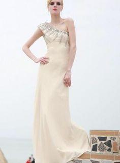 Off-white Prom Dress