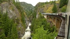 The Whistler Mountaineer in Cheakamus Canyon Canada