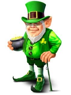 pot of gold with leprechan's - Google Search