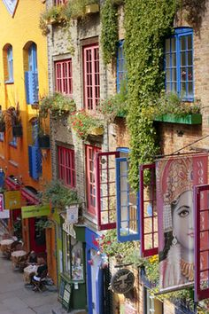 Seven Dials near Covent Garden, London...boutiques, quirky shops, and restaurants.