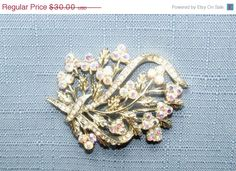 40% Off Vintage Leaf Brooch Coro Pegasus AB and Clear Rhinestones Silver Tone Setting Bride Wedding Special Occasion Christmas Gift Idea #MHYODesignerPurse #boebot