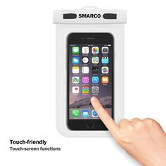 [IPX8 Certified]SMARCO Waterproof Bag, Cell Phone Waterproof Pouch, Waterproof Dry Bag Case - White Case