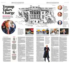 Trump Takes Charge|Epoch Times #DonaldTrump #Inauguration #newspaper #editorialdesign