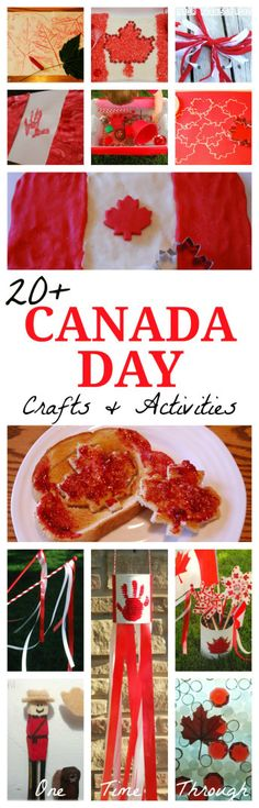 Today's post is jam-packed with fabulous ideas for celebrating CANADA DAY! Whether you are from Canada and are looking to celebrate, or you are learning about Canada with your kids- great craft ideas and art projects for kids! Multicultural Activities, History Activities, Craft Activities, Multicultural Classroom, Movement Activities, Summer Activities, Canada Day Crafts, History Classroom Decorations, Canada Day Party