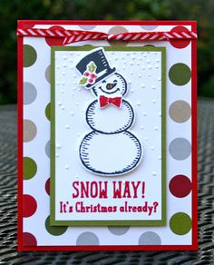 Krystal's Cards: Stampin' Up! Snow Friends Online Class #stampinup…