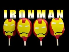 Iron Man Cake Pops - How to Make - YouTube - Cup Cakes and Cardio