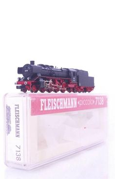 #FLEISCHMANN 7138 - N GAUGE - GERMAN DB 2-8-2 CLASS BR 39 STEAM LOCO No.39 158