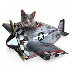 Caja de juegos para Gatos modelo avioneta