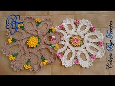 Retro Ornament Throw ~ Joining and Finishing Lace Doilies, Crochet Doilies, Crochet Flowers, Crochet Lace, Knitting Videos, Crochet Videos, Crochet Mandala, Crochet Motif, Doily Patterns