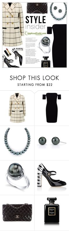"""""""Style Insider: Plaids & Pearls"""" by applesofgoldjewelry ❤ liked on Polyvore featuring Tory Burch, Boohoo, Apples of Gold, Dolce&Gabbana, Chanel and Gucci"""