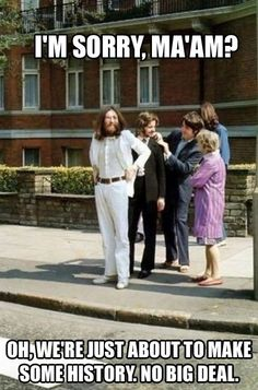funny beatles picture taken right before abby lane cover