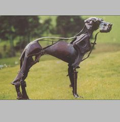 helen denerley dog sculpture