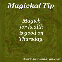 Magickal Tip - Health Magick Thursday – Charissa's Cauldron