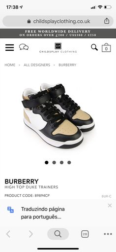 Kids Fashion Boy, High Tops, Trainers, Burberry, Boys, Sneakers, Clothes, Design, Style