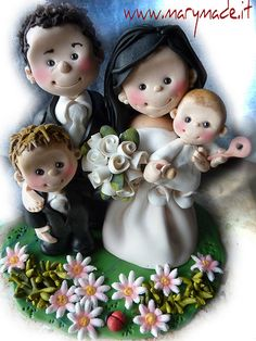 marymade.it cake toppers #wedding #clay #caketoppers