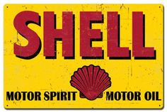 Shell Motor Spirit Motor Oil Grunge Look 24 x 16 Metal Advertising Sign Vintage Reproduction Gas Oil Garage Art Wall Decor SHL068 by HomeDecorGarageArt on Etsy