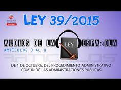 TEST: LEY 39/2015 - ARTÍCULO 30 [A] - YouTube Education, Knowledge, Learning, Professor, Teaching, Onderwijs