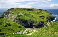 Tintagel Castle, Cornwall, England. The supposed home of legendary King Arthur. Breathtakingly beautiful.