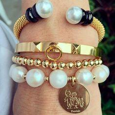 Set By Vila Veloni Beautiful Family Coin Bracelets
