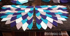 These wings are super easy and require nothing more then felt and hemming tape. OK and scissors, a piece of paper, a pencil and an ...