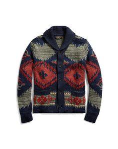 Ralph Lauren Rrl Hand-knit Linen-blend Cardigan In Multi Sweater Coats, Sweater Jacket, Sweater Outfits, Wool Sweaters, Men Sweater, Shawl Cardigan, Cowichan Sweater, Fashion Seasons, Cool Shirts