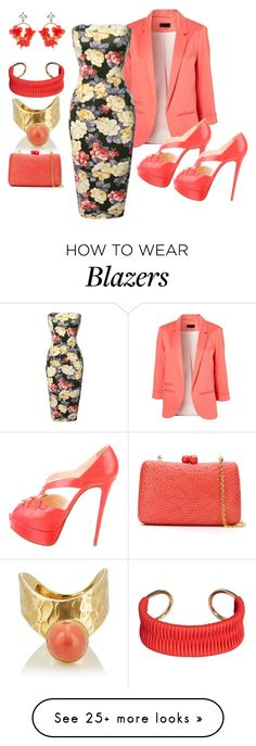 """""""Untitled #2333"""" by deirdre35 on Polyvore featuring Christian Louboutin, VANINA, MANGO and Serpui"""