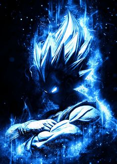 Wallpaper Do Goku, Dragon Ball Z Iphone Wallpaper, Dragonball Wallpaper, Dragon Ball Image, Dragon Ball Gt, Blue Dragon, Foto Do Goku, Blue Anime, Japon Illustration