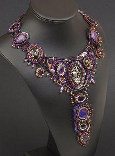 Galassia Una perla ricamato collana collare di NEDbeads su Etsy, $900.00