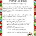 Are you ready for the easiest classroom Christmas party?  I use this idea for every class party and the children love it!  Attach a copy of the  le...