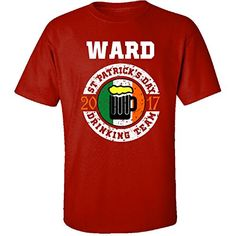 St Patricks Day Ward 2017 Drinking Team Irish  Adult Shirt 5xl Red ** Find out more by clicking the VISIT button