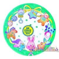 Baby Toys Baby Shower Small Paper Plates (20ct)