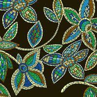 flower paisley design mosaic - Google Search
