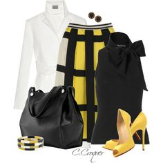 White Coat+Solid Color Bag, created by ccroquer on Polyvore