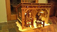 My husband built this stable for our daughter's American Girl doll and her horse.