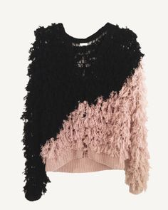 Two tone furry cashmere cardigan by Ryan Roche Barbie Mode, Vogue Fashion, Dolly Fashion, Looks Chic, Dolly Parton, Cashmere Cardigan, Mode Inspiration, Pull, Passion For Fashion