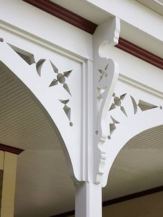 A jigsaw was used to replicate the intricate cuts in the gingerbread trim for this folk Victorian.