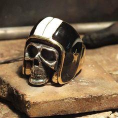 @oldschoolsilver helmet ring
