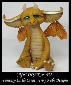 Fantasy Little Dragon DollHouse Art Doll Polymer Clay CDHM OOAK IADR Afu Mini #KabiDesigns