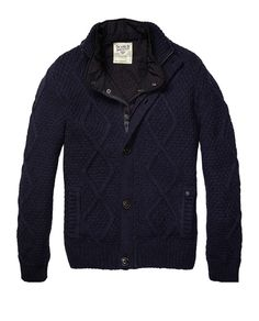 Cardigan With Nylon Diamond Quilted Inner Vest > Mens Clothing > Blazers at Scotch & Soda