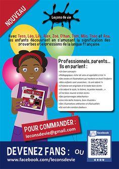 #Affiche publicitaire réalisée par la #graphiste Julie Saba pour promouvoir la Collection jeunesse Leçons de vie éditée par les Editions LDV.