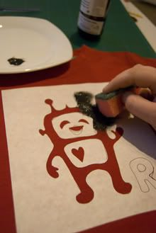 Freezer paper stenciling--the look of silk screening for when you just want to make 1 shirt!- This idea could be used to cover up a stain on a shirt. I think this would be fun to try. koala, jeans style, tea towels, freezer paper, art, jean skirts, paint, paper stencil, shirt