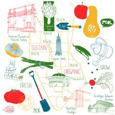 Claudia Pearson - Organic New York map