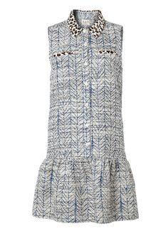 Combo Print Shirt Dress by Sea