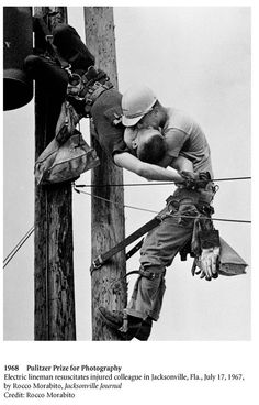 968: Rocco Morabito (Jacksonville Journal): The Kiss of Life  Electric lineman resuscicates injured colleague in Jacksonville 1967